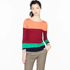 J. Crew Color block Lightweight Sweater Size - M